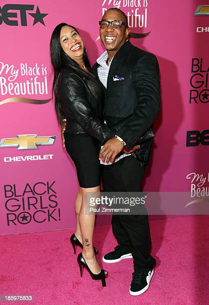 Singer Ja Rule and Aisha Atkins attend Black Girls Rock 2013 at New Jersey Performing Arts Center on October 26 2013 in Newark New Jersey