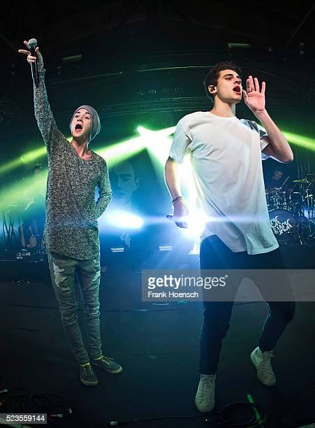 Singer Jack Johnson and Jack Gilinsky of Jack Jack perform live during a concert at the Postbahnhof on April 23 2016 in Berlin Germany