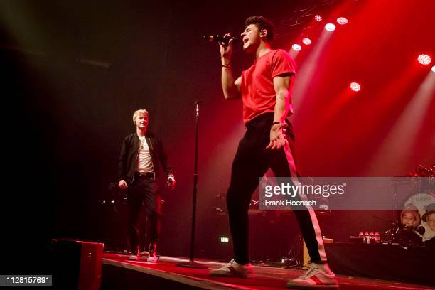 Singer Jack Johnson and Jack Gilinsky of the American band Jack Jack perform live on stage during a concert at the Huxleys on February 28 2019 in...