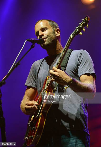 Singer Jack Johnson performs on the Sunset Cliffs stage during KAABOO Del Mar at the Del Mar Fairgrounds on September 18 2016 in Del Mar California