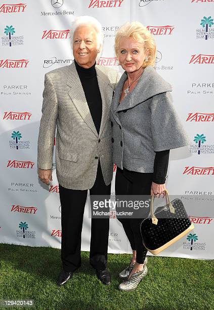 Singer Jack Jones and Eleonora Jones attend Variety's Indie Impact and 10 Directors to Watch Brunch at Palm Springs International Film Festival at...