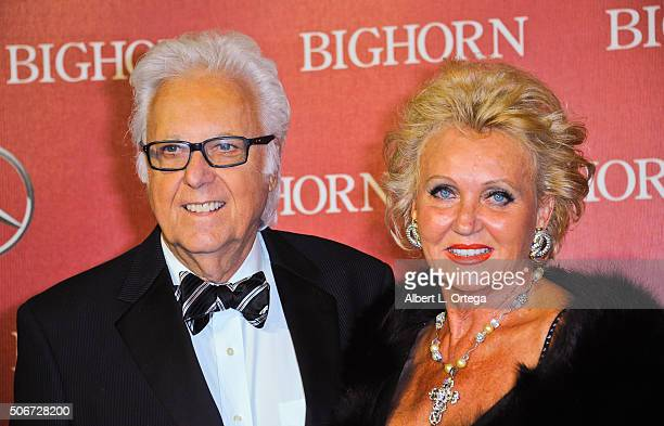 Singer Jack Jones and wife Eleonora arrive for the 27th Annual Palm Springs International Film Festival Awards Gala held at Palm Springs Convention...