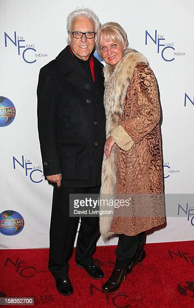 Singer Jack Jones and wife Eleonora attend a screening of Saving Grace B Jones at the ICM Screening Room on December 13 2012 in Los Angeles California