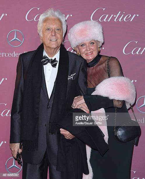 Singer Jack Jones and wife Eleonora Jones arrive at the 26th Annual Palm Springs International Film Festival Awards Gala Presented By Cartier at Palm...