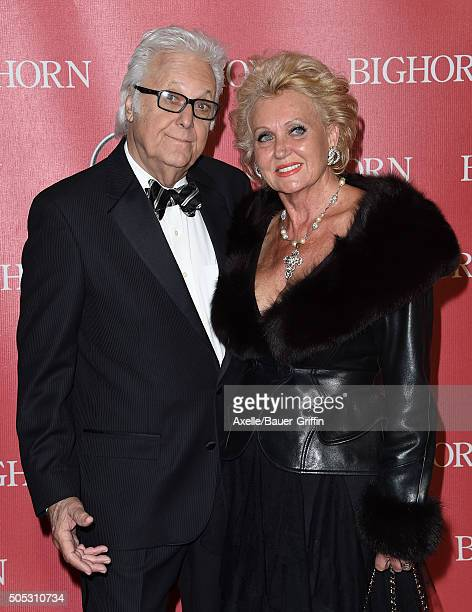 Singer Jack Jones and wife Eleonora Jones arrive at the 27th Annual Palm Springs International Film Festival Awards Gala at Palm Springs Convention...
