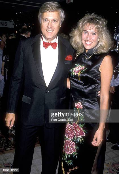 Singer Jack Jones and wife Kim Ely attend the 33rd Annual Thalians Ball on October 8 1988 at Century Plaza Hotel in Los Angeles California