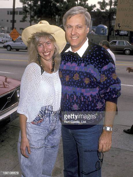 Singer Jack Jones and wife Kim Ely attend the Pierre Cossette's Viewing Party for Superbowl XXIII San Francisco 49ers vs Cincinatti Bengals on...