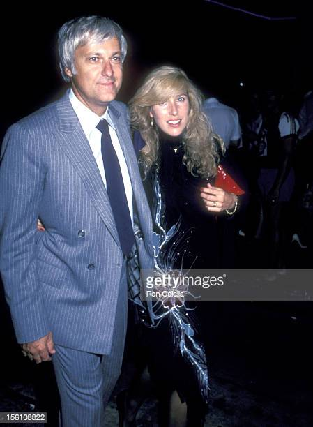 Singer Jack Jones and wife Kim Ely attend the 'Staying Alive' Hollywood Premiere Party on July 11 1983 at The Palace in Hollywood California
