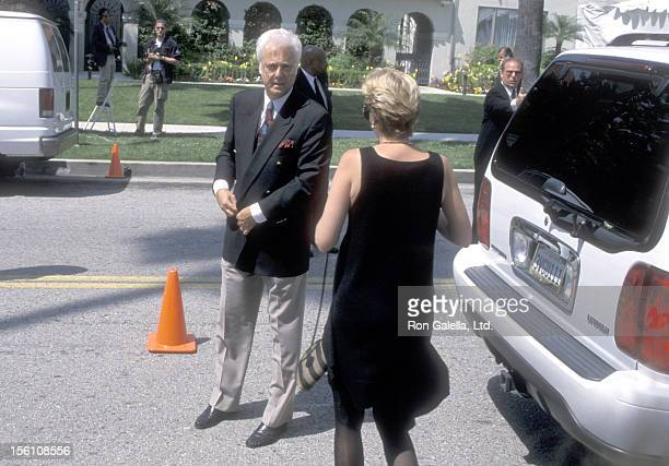 Singer Jack Jones attends the Funeral Service for Frank Sinatra on May 20 1998 at The Good Shepherd Catholic Church in Beverly Hills California