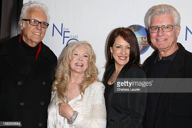 Singer Jack Jones director Connie Stevens actress Joely Fisher and actor Kent McCord attend the screening of Saving Grace B Jones at ICM Screening...