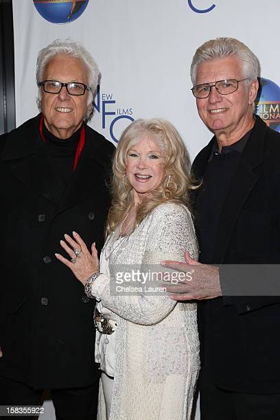 Singer Jack Jones director Connie Stevens and actor Kent McCord attend the screening of 'Saving Grace B Jones' at ICM Screening Room on December 13...