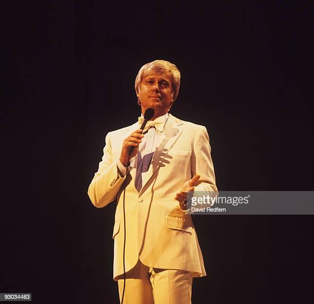Singer Jack Jones performs on stage in 1982
