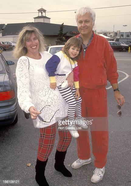 Singer Jack Jones wife Kim Ely and daughter Nicole Jones attend the Third Annual Toys for Tots Fundraiser for The Salvation Army on November 22 1993...