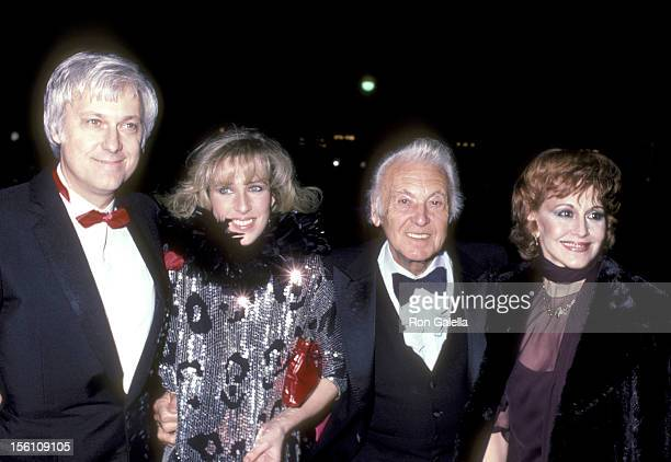 Singer Jack Jones wife Kim Ely and his father Actor Allan Jones and wife Esther Marie Villavincie attend the '42nd Street' Opening Night Performance...