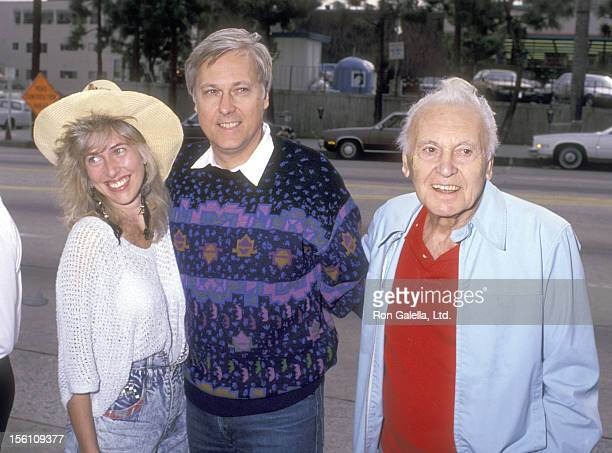 Singer Jack Jones wife Kim Ely and his father Actor Allan Jones attend the Pierre Cossette's Viewing Party for Superbowl XXIII San Francisco 49ers vs...