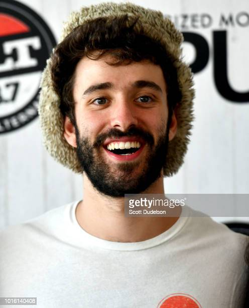 Singer Jack Met of the band AJR attends the ALT 987 Summer Camp Concert at Queen Mary Events Park on August 12 2018 in Long Beach California