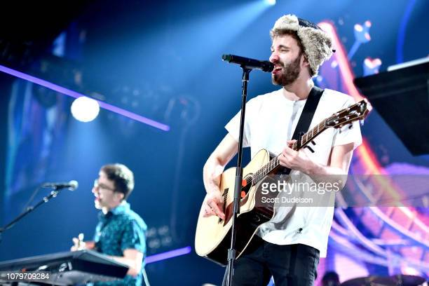 Singer Jack Met of the band AJR performs onstage during day 1 of the KROQ Absolut Almost Acoustic Christmas 2018 at The Forum on December 08 2018 in...
