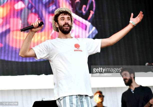 Singer Jack Met of the band AJR performs onstage the ALT 987 Summer Camp Concert at Queen Mary Events Park on August 12 2018 in Long Beach California