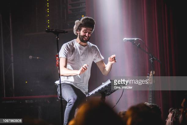 Singer Jack Metzger of the American band AJR performs live on stage during a concert at Lido on February 11 2019 in Berlin Germany