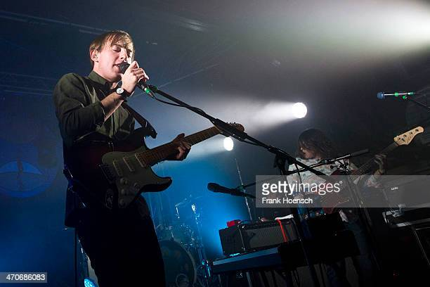 Singer Jack Steadman of Bombay Bicycle Club performs live during a concert at the Postbahnhof on February 18 2014 in Berlin Germany