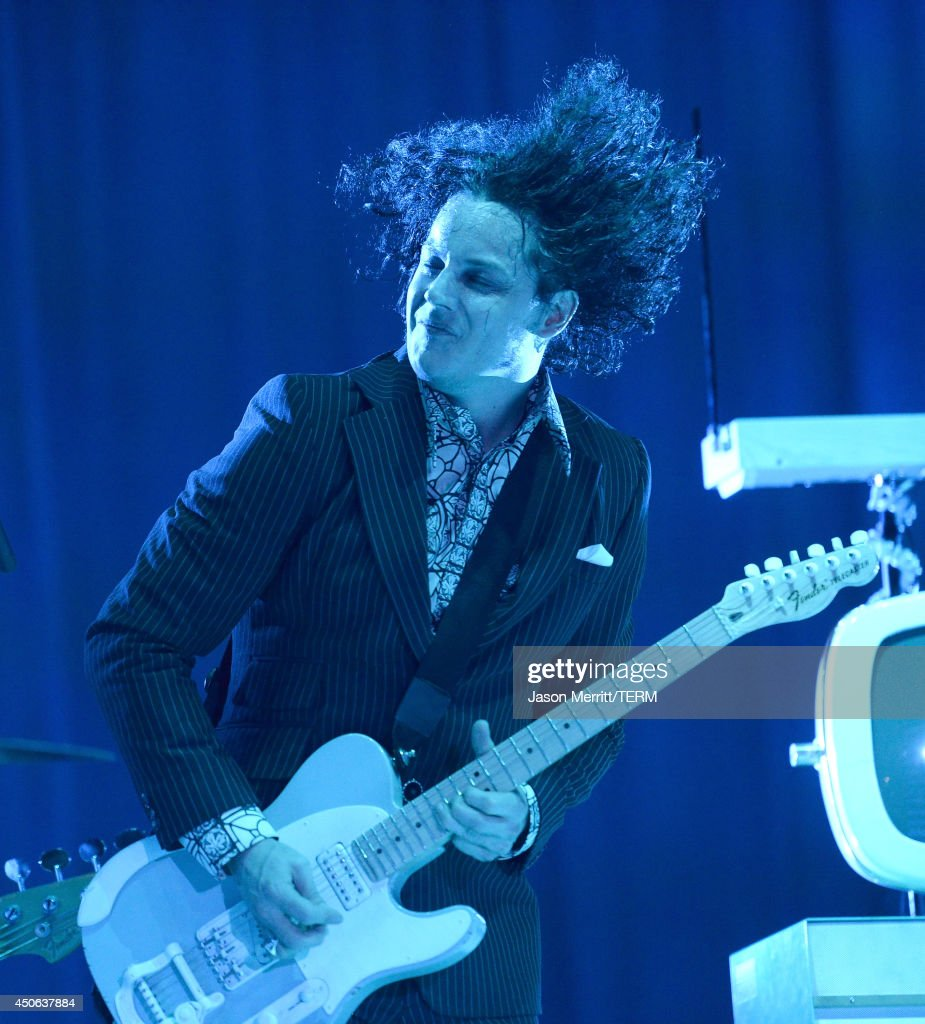 Singer Jack White perform during the 2014 Bonnaroo Music & Arts Festival on June 14, 2014 in Manchester, Tennessee.