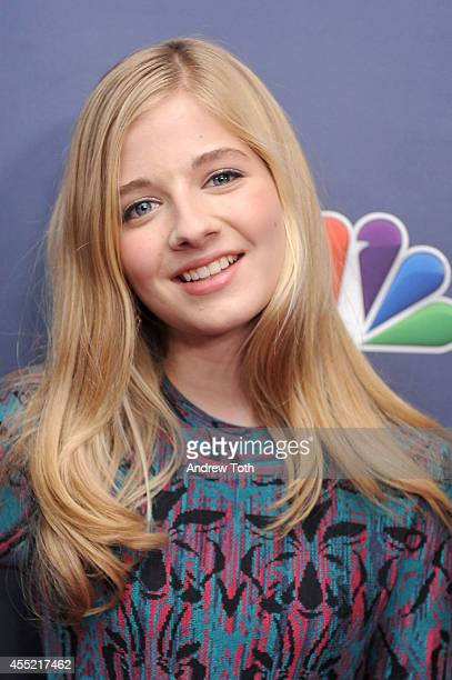 Singer Jackie Evancho attends 'America's Got Talent' season 9 post show red carpet event at Radio City Music Hall on September 10 2014 in New York...