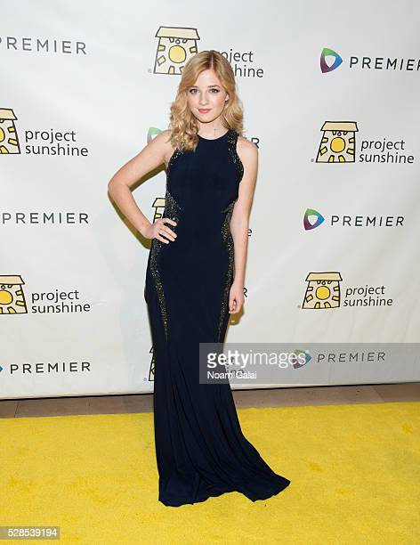 Singer Jackie Evancho attends Project Sunshine's 13th annual benefit celebration on May 05 2016 in New York New York