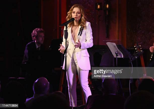 Singer Jackie Evancho performs at 54 Below on April 23 2019 in New York City
