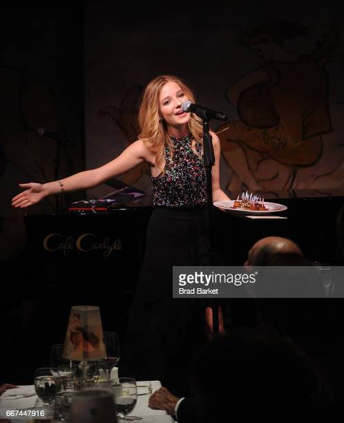 Singer Jackie Evancho performs at Cafe Carlyle on April 11 2017 in New York City