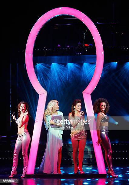 Singer Jackie Seiden, television personality and model Holly Madison, actress Shoshana Bean and singer Cheaza perform during the adult production...