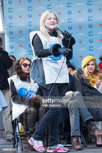 Singer Jackie Wilson attends the 2015 International Women's Day March at Dag Hammarskjold Plaza on March 8 2015 in New York City