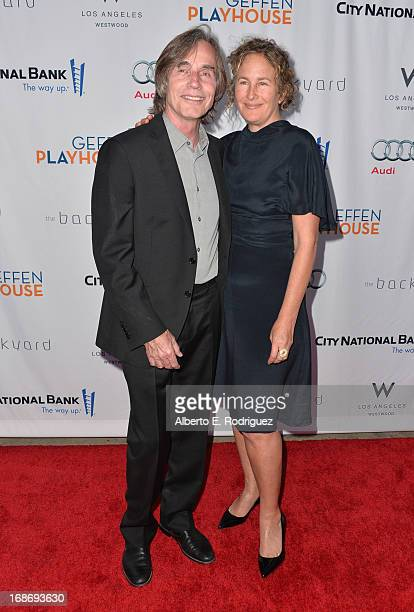 Singer Jackson Browne and Dianna Cohen arrive to The Geffen Playhouse's Annual Backstage at the Geffen Gala at Geffen Playhouse on May 13 2013 in Los...