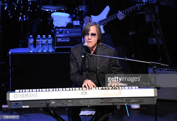 Singer Jackson Browne performs at Bacardi presents The Black Eyed Peas Peapod Benefit at The Music Box on February 10 2011 in Hollywood California
