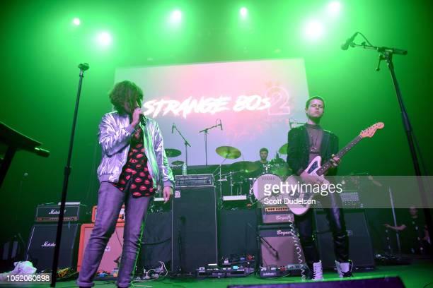 Singer Jacob Mandel of the band Melatonin Girls attends the Strange 80's concert at The Fonda Theatre on October 12 2018 in Los Angeles California