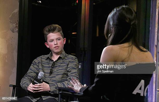 Singer Jacob Sartorius and Katie Van Buren attend the Build series to discuss 'The Last Text World Tour' at AOL HQ on January 10 2017 in New York City