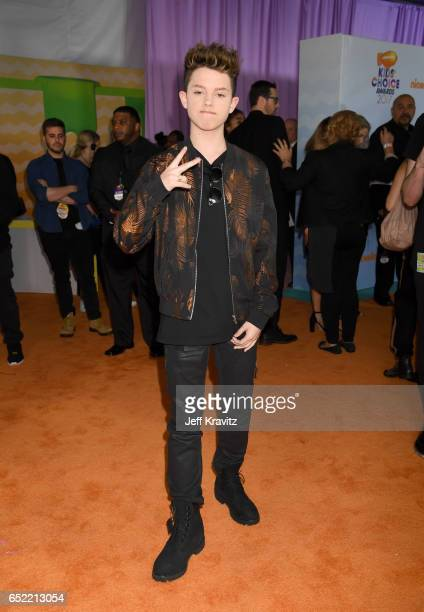 Singer Jacob Sartorius at Nickelodeon's 2017 Kids' Choice Awards at USC Galen Center on March 11 2017 in Los Angeles California