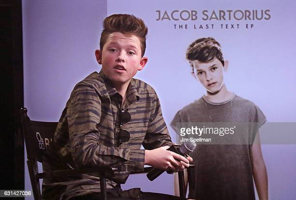 Singer Jacob Sartorius attends the Build series to discuss 'The Last Text World Tour' at AOL HQ on January 10 2017 in New York City