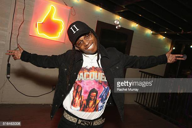 Singer Jacquees attends the PANDORA Discovery Den SXSW on March 18 2016 in Austin Texas