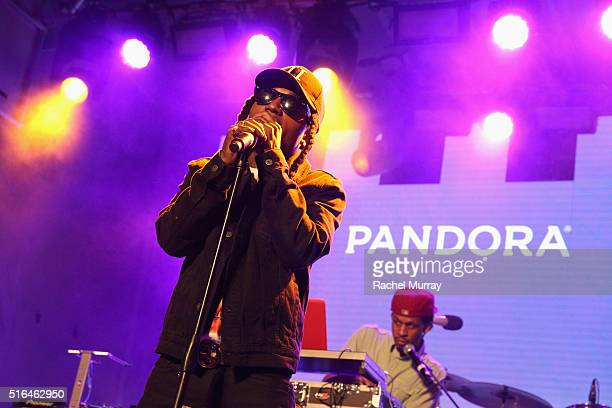 Singer Jacquees performs onstage during the PANDORA Discovery Den SXSW on March 18 2016 in Austin Texas