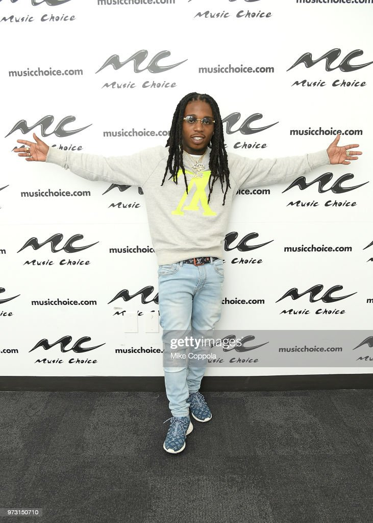 Singer Jacquees poses for a photo during his visit to Music Choice on June 13, 2018 in New York City.
