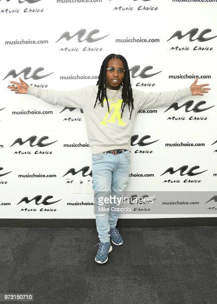 Singer Jacquees poses for a photo during his visit to Music Choice on June 13 2018 in New York City
