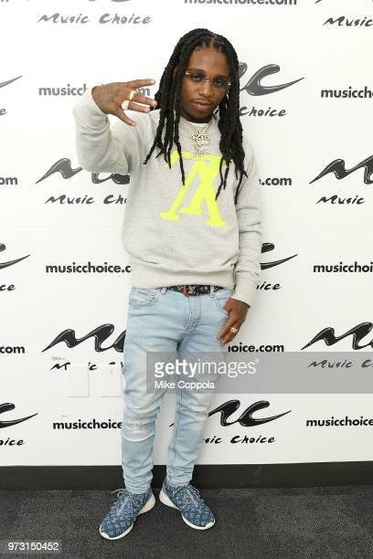 Singer Jacquees poses for a photos during his visit at Music Choice on June 13 2018 in New York City