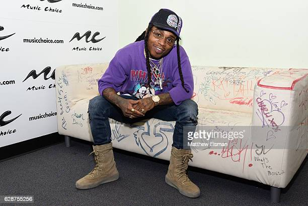 Singer Jacquees visits at Music Choice on December 9 2016 in New York City