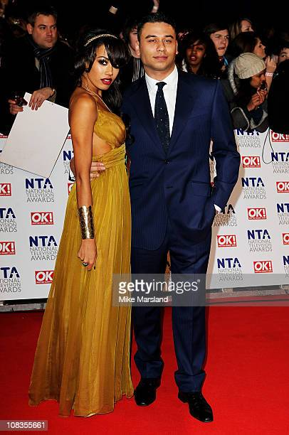 Singer Jade Ewen and actor Ricky Norwood attend the The National Television Awards at the O2 Arena on January 26 2011 in London England