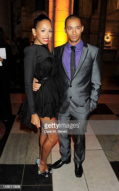 Singer Jade Ewen and Cairo Woodward attend Jonathan Shalit's 50th birthday party at The VA on April 17 2012 in London England