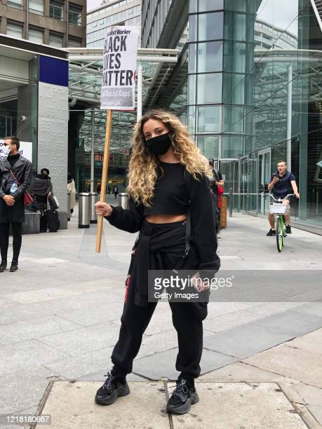 Singer Jade Thirlwall of Little Mix attends a Black Lives Matter protest on June 07 2020 in London United Kingdom The death of an AfricanAmerican man...