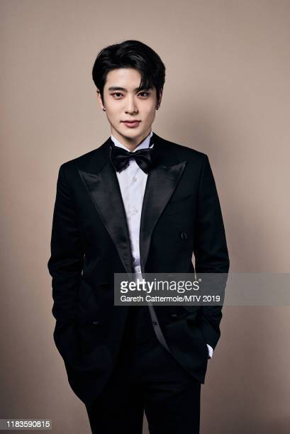 Singer Jaehyun of boy band NCT 127 pose for a portrait at the MTV EMAs 2019 studio at FIBES Conference and Exhibition Centre on November 3 2019 in...