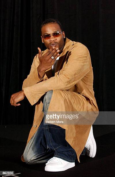 Singer Jaheim poses backstage during the 2nd Annual BET Awards on June 25 2002 at the Kodak Theater in Hollywood California