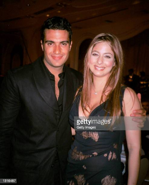 Singer Jaime Camil poses with Lente Loco host Odalys Garcia at the Don Francisco gala June 8 2001 in Beverly Hills CA Don Francisco is the talk show...