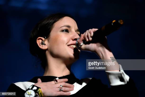 Singer Jain performs onstage during the Pandora SXSW event at The Gatsby on March 15 2017 in Austin Texas